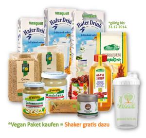Tolle vegane Produkte als Set verpackt