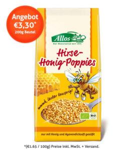 Sonderangebot: Allos Hirse-Poppies mit Honig für nur 3,30 Euro.