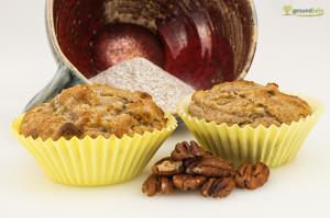 Bananen-Nuss Muffins mit Buchweizenmehl