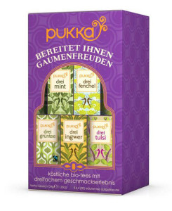 5 Variationen Pukka Tea