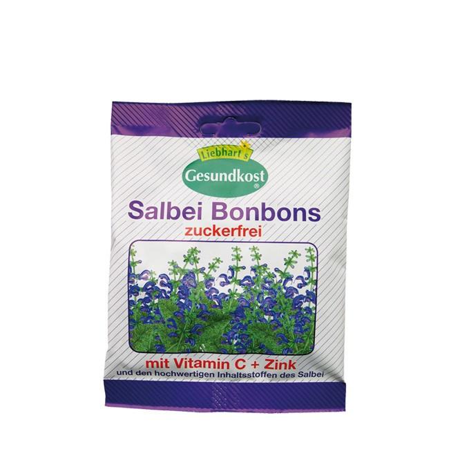 Liebhart's Salbei Bonbons zuckerfrei echtem Salbei und Vitamin C und Zinkkomplexen