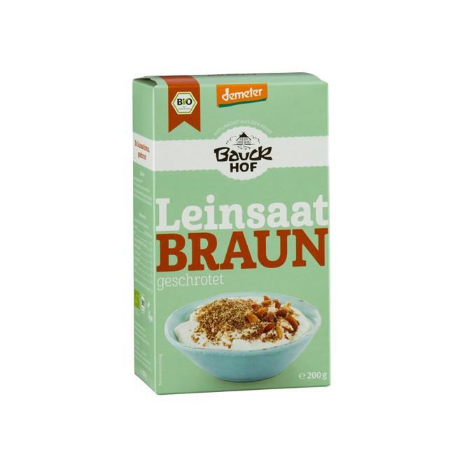 Bauckhof Leinsaat Braun geschrotet 200g Demeter