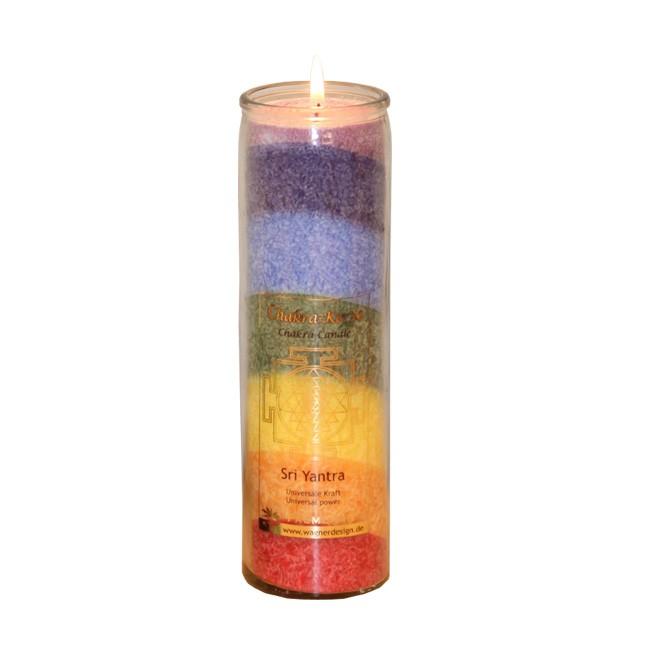 Chakrakerze-multicolor-Sri-Yantra