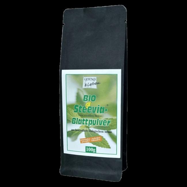 Gesund und Leben : Steevia-Grünes Blattpulver, bio (100g)