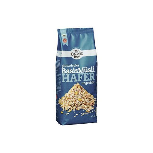 Bauckhof Bio glutenfreies Basis Hafermüsli mit Quinoa 425g