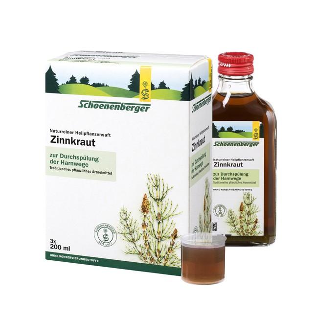 Bio Zinnkraut Presssaft von Schoenenberger ohne Zusatzstoffe schonend verarbeitetes Wildzinnkraut