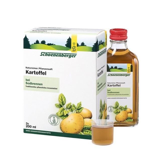 Schoenenberger direkt gepresster Naturreiner bio Pflanzensaft Kartoffel 600ml lindert Beschwerden bei übersäuertem Magen, basisch