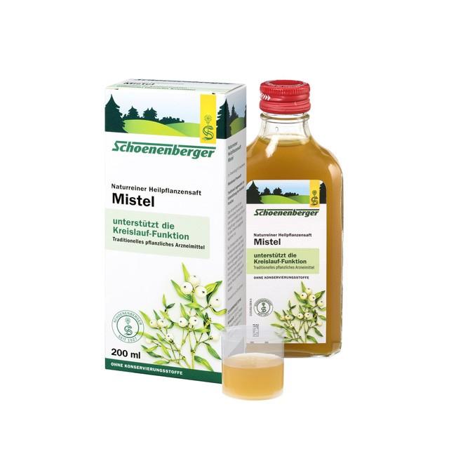 Schoeneberger Bio Heilpflanzensaft Mistel gilt hilfreich zur Normalisierung des Blutdrucks 200ml