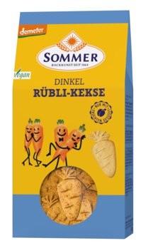 Sommer : Vegane Dinkel Rübli-Kekse, demeter (150g)