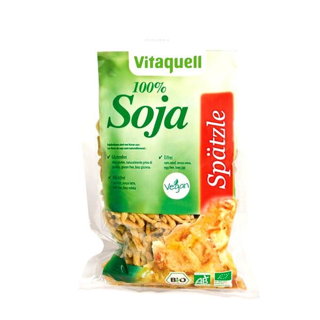 Bio Soja Spätzle Vitaquell 200g gluten- und eifrei mild im Geschmack ohne künstliche Farb- oder Aromastoffe