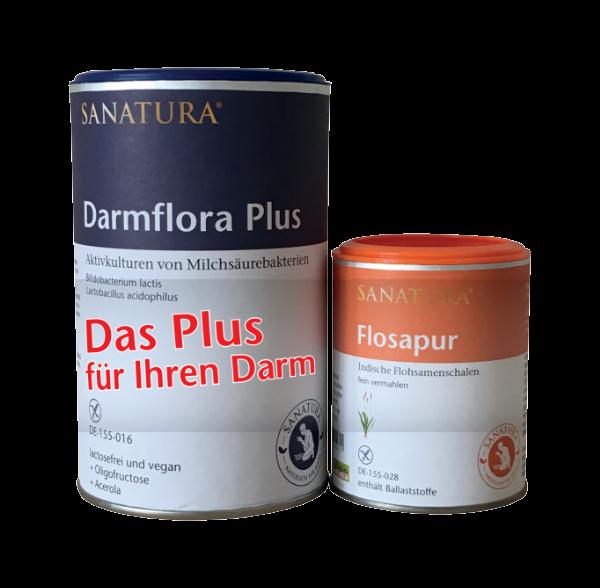Vorteilspack Darmflora-Plus (200g) & gratis Flosapur Onpack (1 Stk)