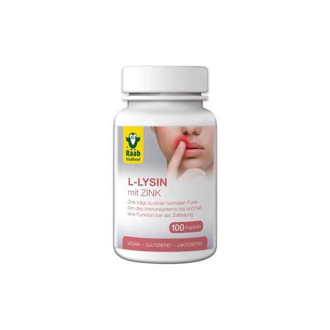 Raab L-Lysin mit Zink zur Immunabwehr (100 Stk)