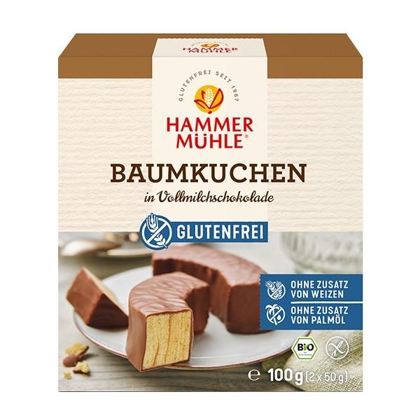 Hammermühle : Glutenfreier Baumkuchen mit Vollmilchschokolade, bio (100g)