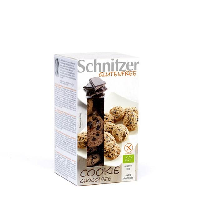 """glutenfreie bio Schokokekse von Schnitzer """"Cookie Chocolate"""" mit 25% Zarbitterschokolade"""