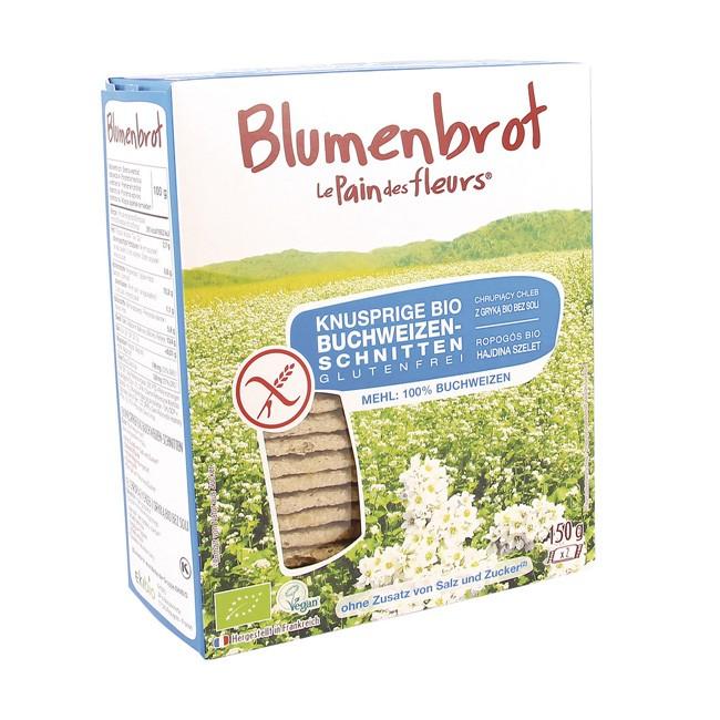 Blumenbrot: Glutenfreie Buchweizenschnitten ohne Salz