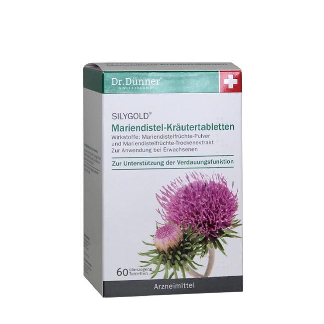 Dr. Dünner Mariendistel-Kräutertabletten (60St.) - Arzneimittel zur Verdauungsunterstützung