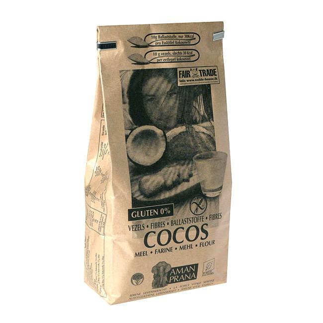 Amanprana faserreiches Kokosmehl 1kg - zum backen, ins Müsli oder als Ballaststoffdrink