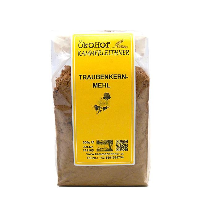 Bio Traubenkernmehl von Ökohof Kammerleithner (500g-Tüte)