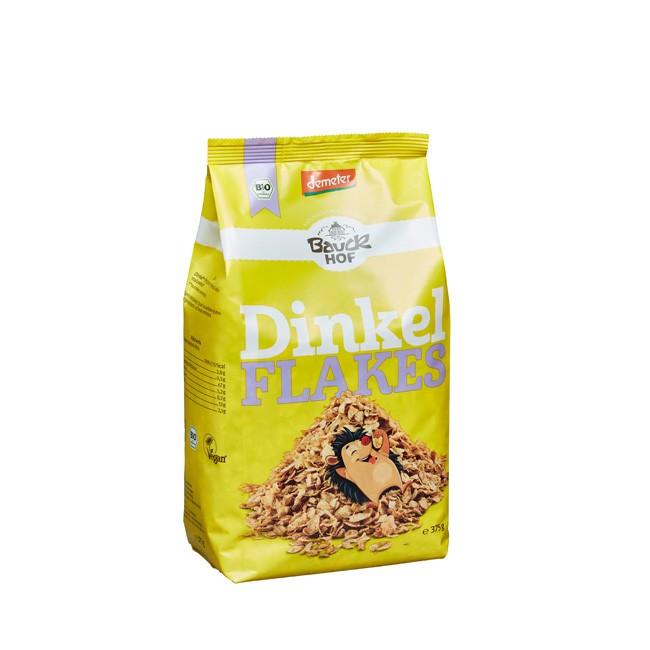 Bauckhof Bio Dinkelflakes in Demeter-Qualität in der 375g-Tüte