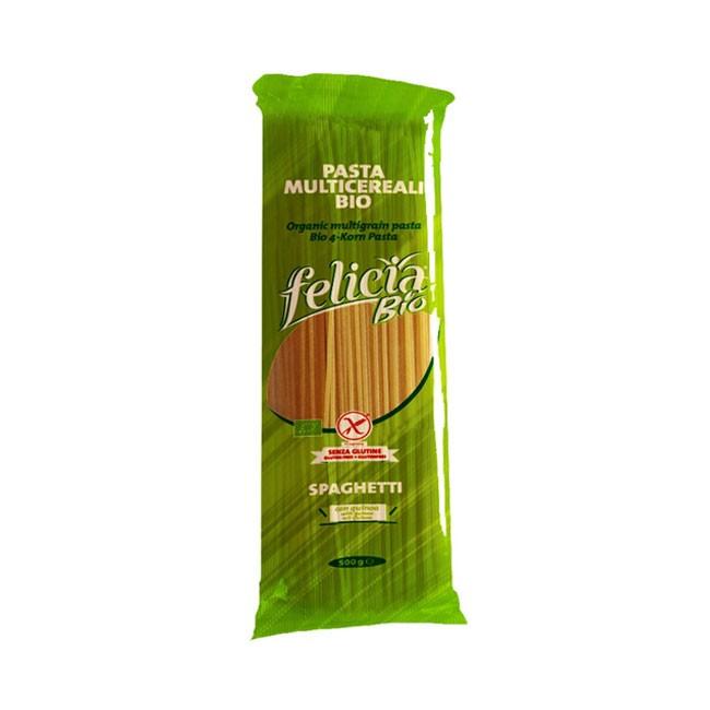 Felicia Bio glutenfreie 4-Korn Spaghetti aus Reis, Mais, Quinoa und Buchweizen