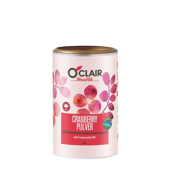 Rohkost Cranberry Pulver von O'Clair 90g-Dose in Bio Qualität