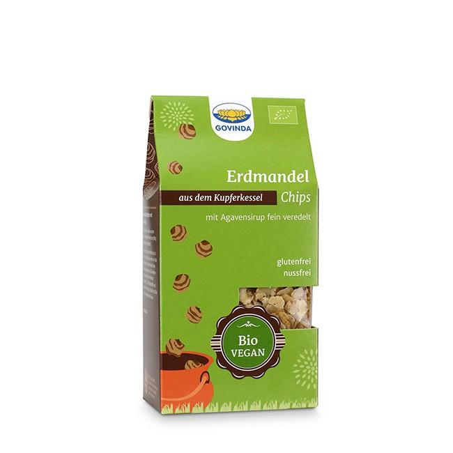 glutenfreie Erdmandel Chips von Govinda (100g) - alternative bei Nussallergie
