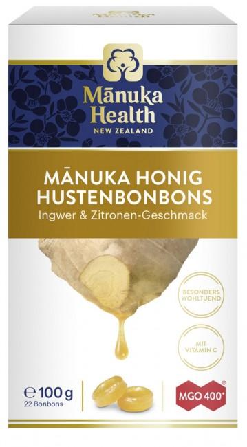 Manuka Health : Hustenbonbons MGO 400+ Ingwer & Zitrone (100g)