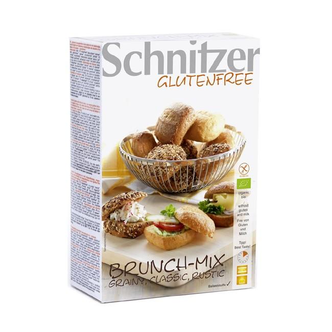 glutenfreier Bio Brötchen Brunch-Mix von Schnitzer mit Mini Brötchen in 3 Sorten (Grainy, Rustic, Classic)