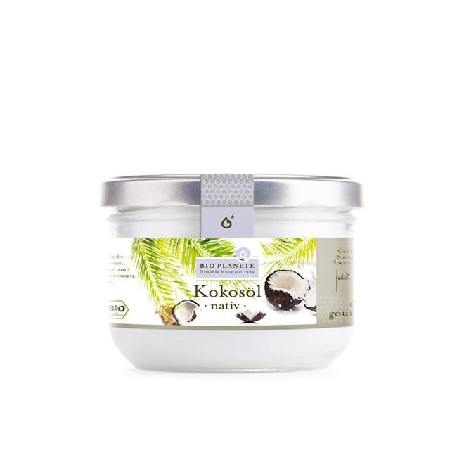 Natives Kokosöl (400ml) von Bio Planete - feiner Kokosgeschmack für Küche und Kosmetik