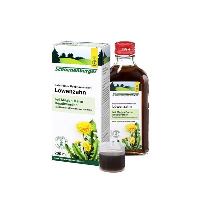 Schönenberger Heilpflanzensaft Löwenzahn 200ml plus Dosierbecher