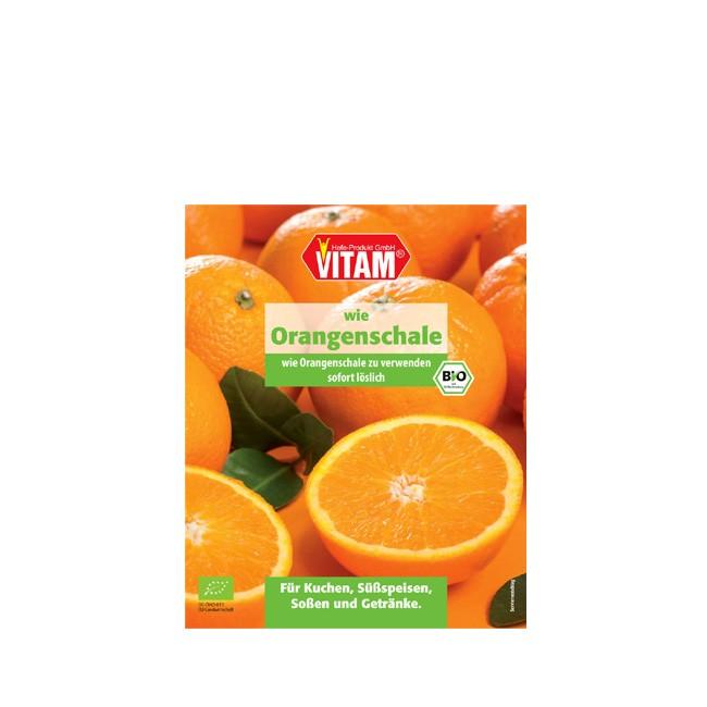 Backen Kochen bio Orangenschalen Aroma von Vitam in der 10 g Packung