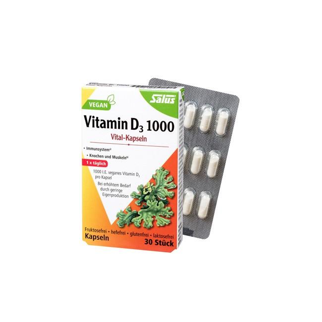 Vitamin D3 1000 Kapseln (30 Stück) von Salus
