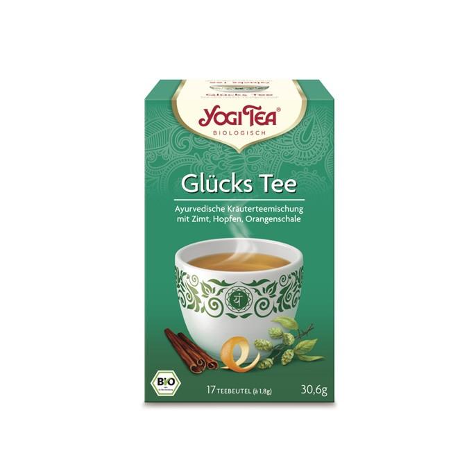 glücklich in den Tag mit Bio Bockhornklee und Hopfen im Yogi Tea Glücks Tee