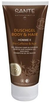 Sante : Homme II Duschgel Body & Hair 2in1 Bio-Caffeine & Acai, bio (200ml)