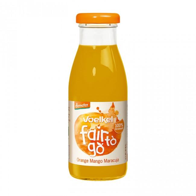 Voelkel: Fair to go - Orange Mango Maracuja Saft