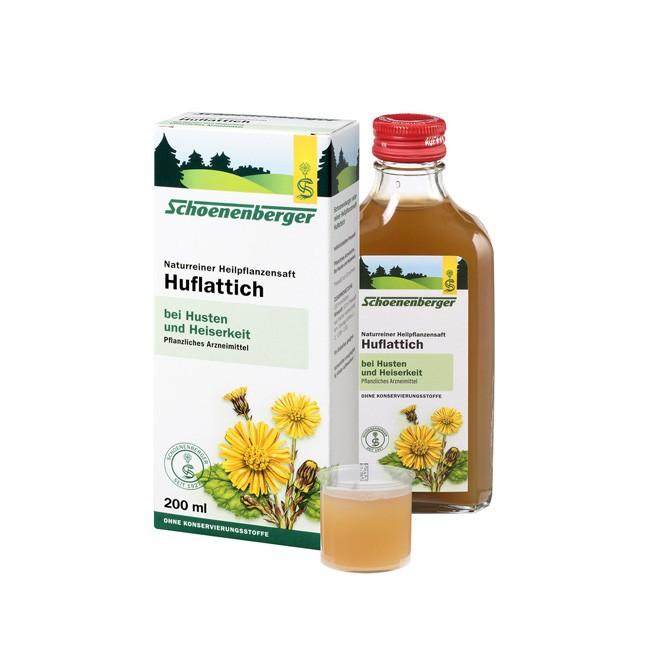 Schoenenberger naturreiner Heilpflanzensaft Huflattich bio 200ml zur Linderung von Nervosität