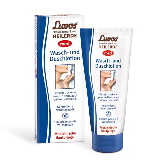 Medizinische Waschlotion und Dusche von LUVOS - ph-neutral, bei Neurodermitis