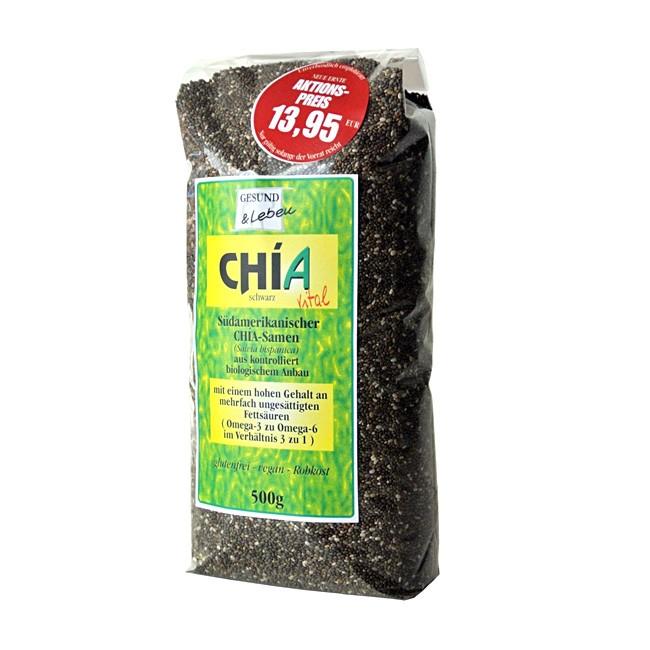 Chia Samen von Gesund und Leben im 500g Vorratspack