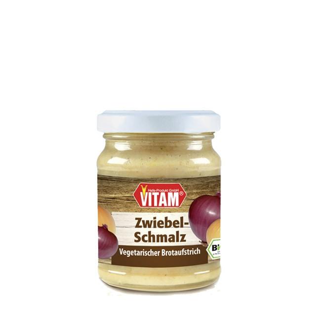 Vitam Zwiebelschmalz rein vegan und glutenfrei bio 100g mit gerösteten Zwiebeln