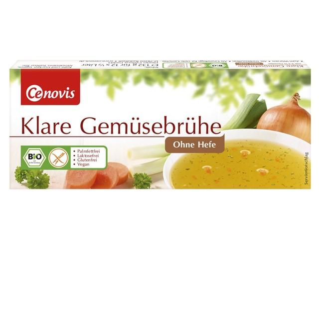 Hefefreie Klare Gemüsebrühe von Cenovis - praktisch: 12 Würfel pro Packung