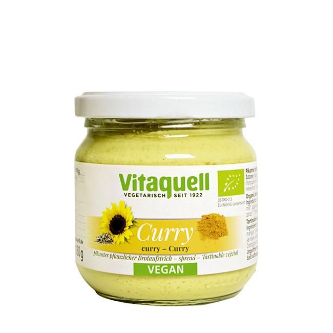 Vitaquell Sonnenblumenaufstrich mit Curry - vegan - 180g