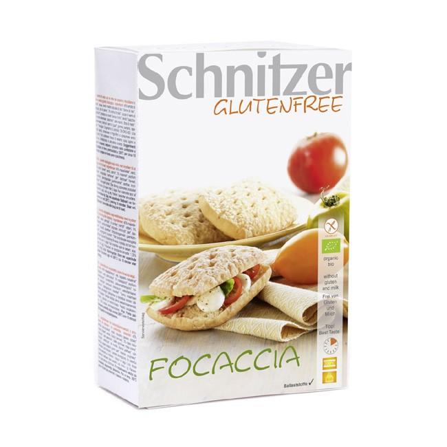 Schnitzer's Focaccia, glutenfrei, milchfrei und Bio, 2 Stück