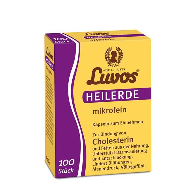 mikrofeine Heilerde in 100 Kapseln von LUVOS - Entschlacken und Darmsanierung