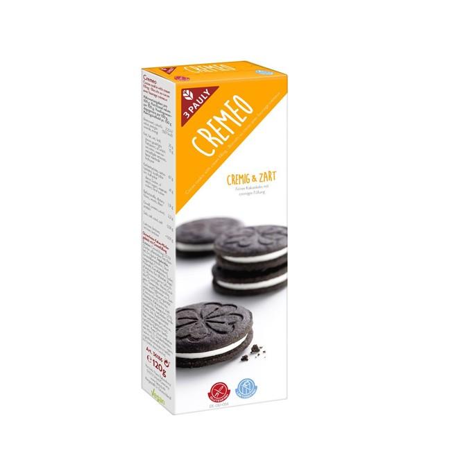 3 Pauly : Cremeo gefüllter Kakaokeks, glutenfrei