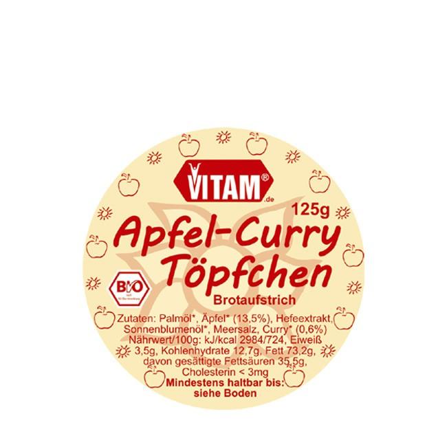 Vitam Apfel Curry Töpfchen bio 125g mit Glutenfrei und vegan