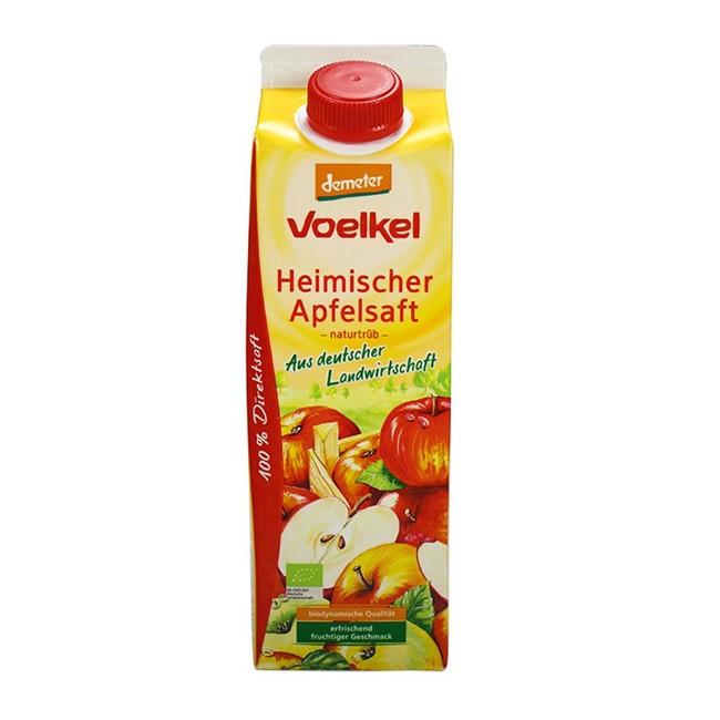 Heimischer Apfelsaft naturtrüb von Voelkel (1l) aus Demeter Anbau