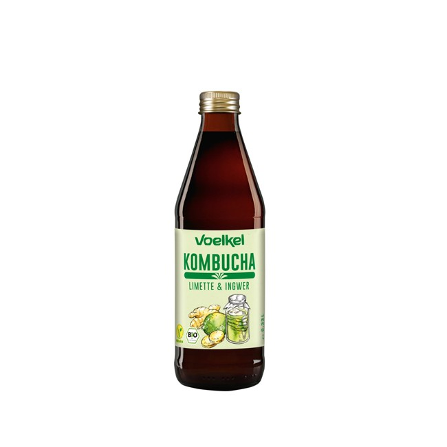Voelkel : Kombucha Limette Ingwer, bio (0,33l)
