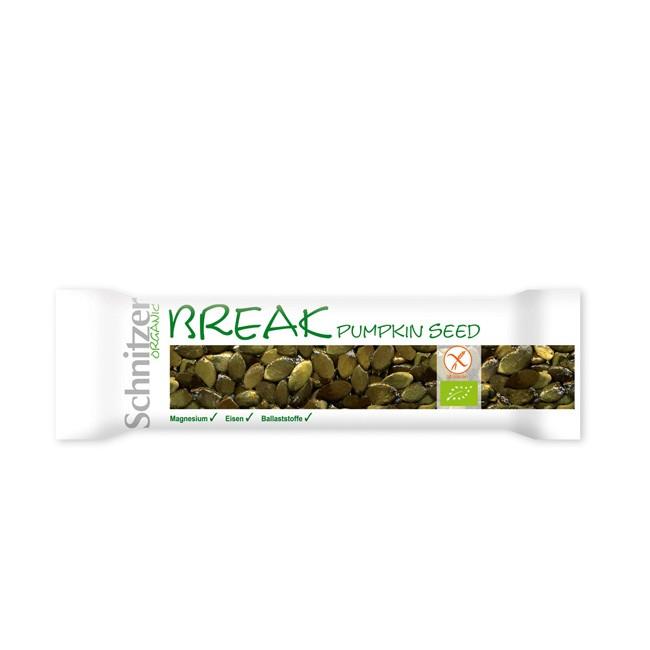 Kürbiskern Riegel von Schnitzer - Break Pumpkin Seed - Bio Qualität 40g