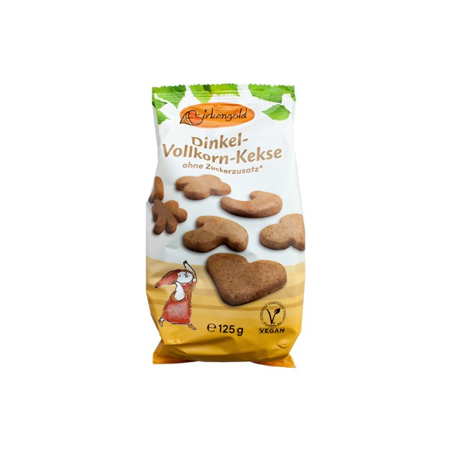 Birkengold: Dinkel-Vollkorn-Kekse ohne Zucker (125g)