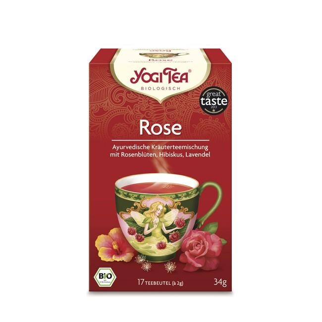 Yogi Tea Rose Tao Tee mit  Rose Linde und Lavendel Kurkuma und Kardamom sinnliches Erlebnis